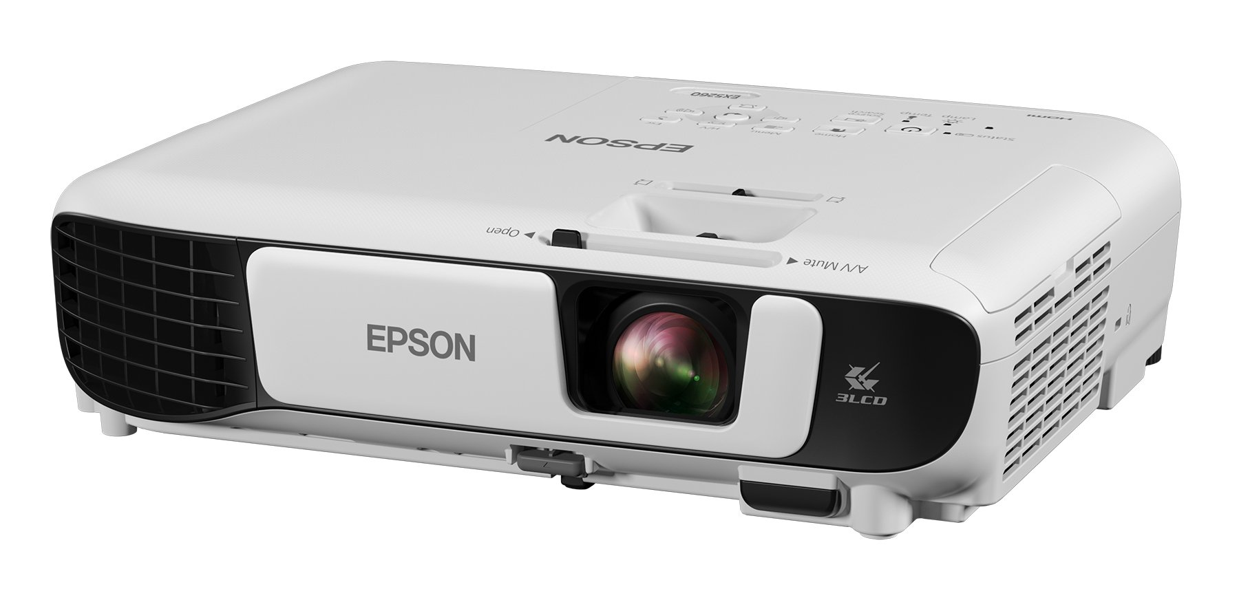 Epson EX5260 XGA 3,600 lumens color brightness (color light output) 3,600 lumens white brightness (white light output) wireless HDMI 3LCD projector by Epson