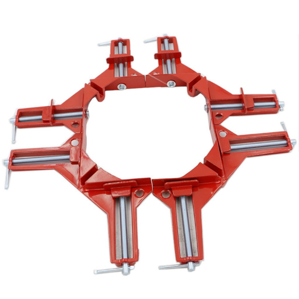 Jili Online 4pc HEAVY DUTY 3'' 80MM MITRE CORNER CLAMPS FRAME HOLDER WOODWORK RIGHT ANGLE by Jili Online (Image #9)