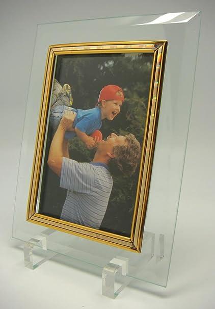 4 x 6 vidrio biselado marco de fotos (artículo # 88): Amazon.es: Hogar