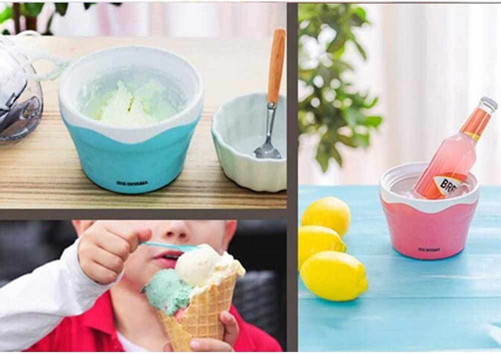 500Ml Automatic Machine Icecream Makers Machine for Home DIY,Blue STKJ Ice Cream Maker with Built in Freezer