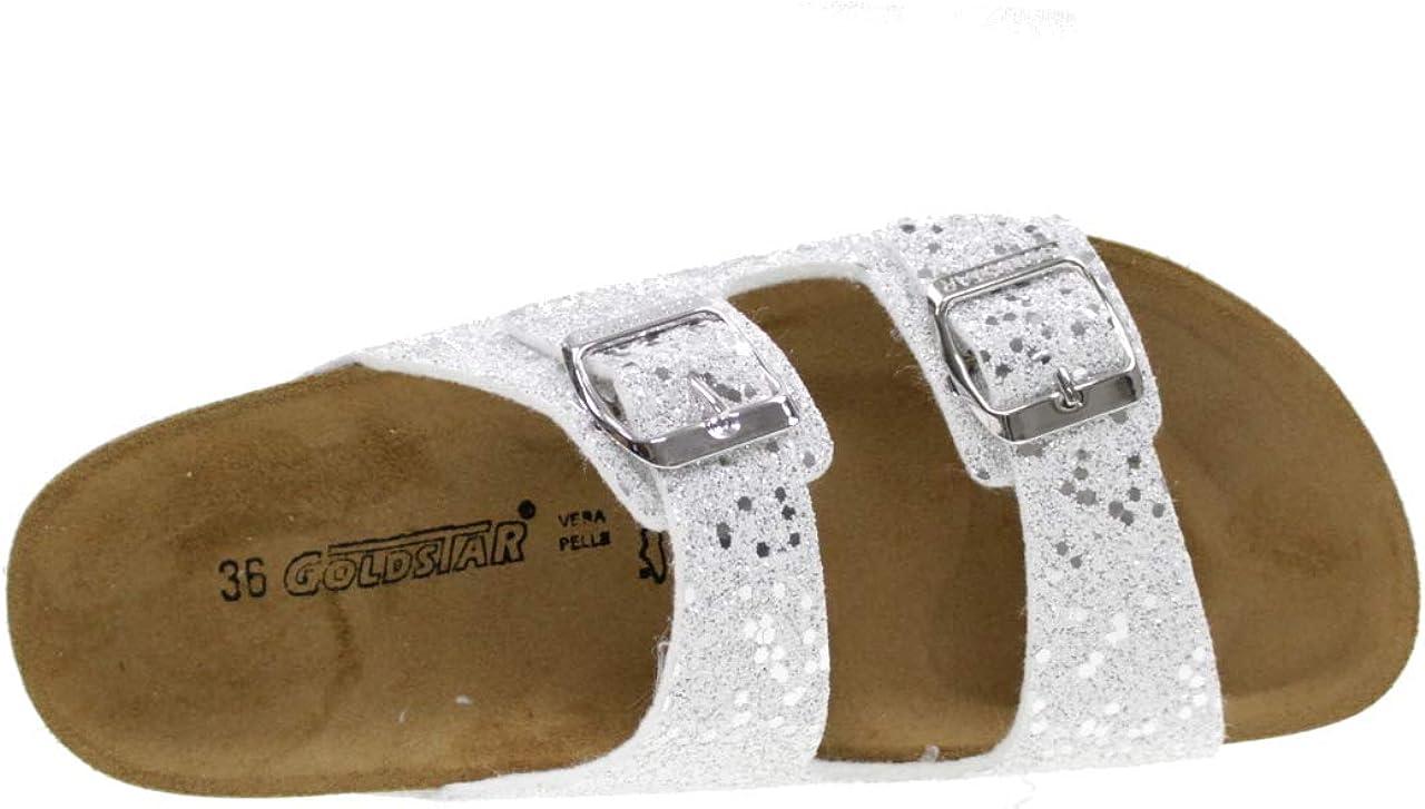 GoldStar Chaussons avec Boucles MOD/ÈLE Birk Fille 1800XA Argent