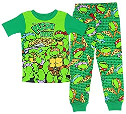 Teenage Mutant Ninja Turtles Baby and Toddler Boys Pizza Time 2 Piece Pajama Set (24 Months)