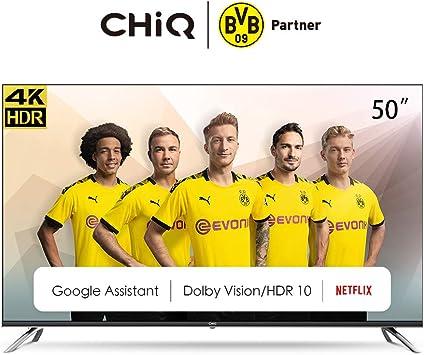 CHiQ U50H7A 4K LED TV, UHD, Smart TV,Android TV 9.0, 50 Pulgadas ...