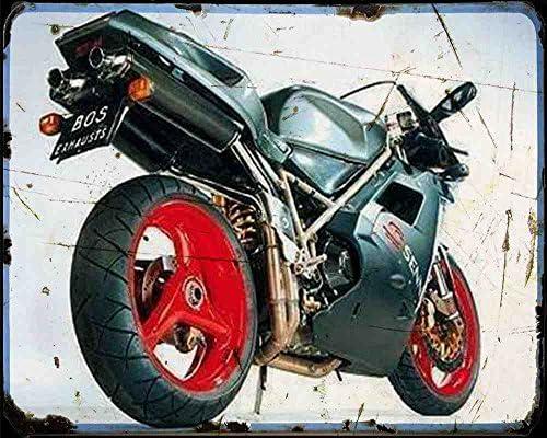 Ducati 916 Senna 1 Plaque en m/étal pour Moto Vintage Vieilli A4