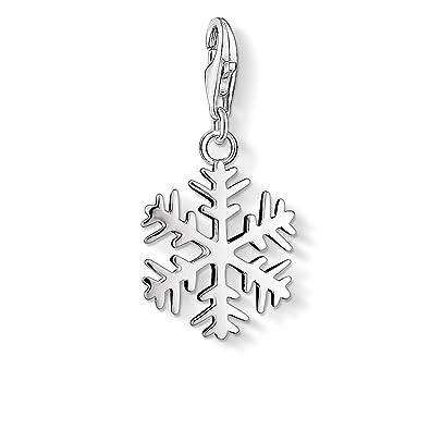 Thomas Sabo Women-Charm Pendant Snowflake Charm Club 925 Sterling Silver 0281-001-12 UJjcP