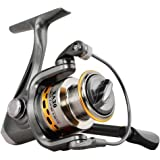 FISHINGSIR Spinning Reels Light Weight Ultra Smooth Aluminum Spool Spinning Fishing Reel 7+1BB 5.5:1 High Speed for Freshwater Saltwater Boat Fishing