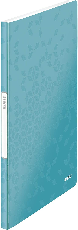 Wow Range Leitz A4 Display Book 46320064 80 Sheet Capacity 40 Pockets Transparent Pockets Metallic Green