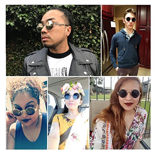 Fashion Mirror Sunglasses Women Men Eyewear Blue Protection HD Decorations Travelling gold Lens UVA Sunglasses Outdoor Anti Frame Party Driving UVB Sports For Frame Climbing Lens UV400 Round Polarized Indoor Metal Fishing 0Ixdd8aq