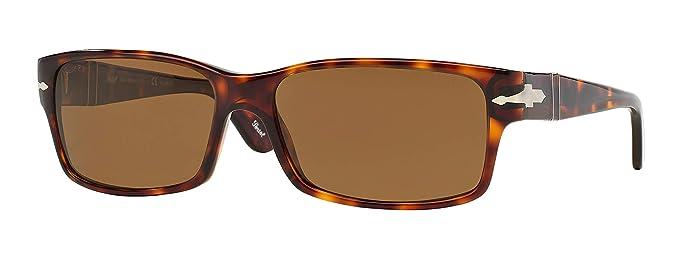 dd5b98ff0b PERSOL 2803 Sunglasses Havana Frame Crystal Brown Polarized PO2803S 24 57  58mm  Amazon.co.uk  Clothing