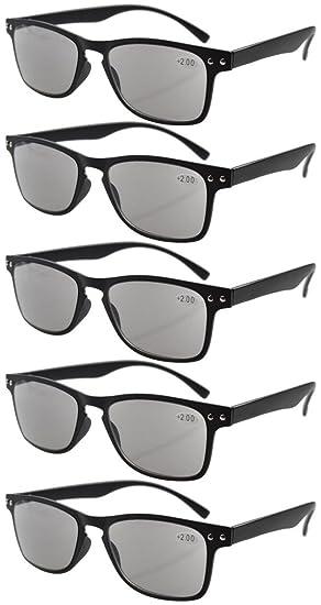 Eyekepper Gafas de sol de lectura 5-pack ultrafinas marco ...