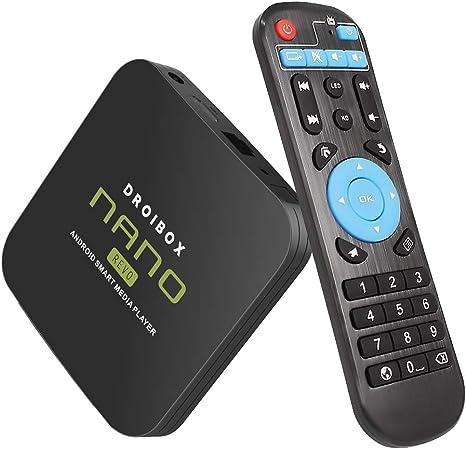 Reproductor de TV Droibox® Nano 4 K Android 6.0 Ultra HD Smart Media Streamer Quad Core Amlogic S905X con iWI-FI RJ45 e Ethernet Bluetooth 4.0 integrados: Amazon.es: Electrónica