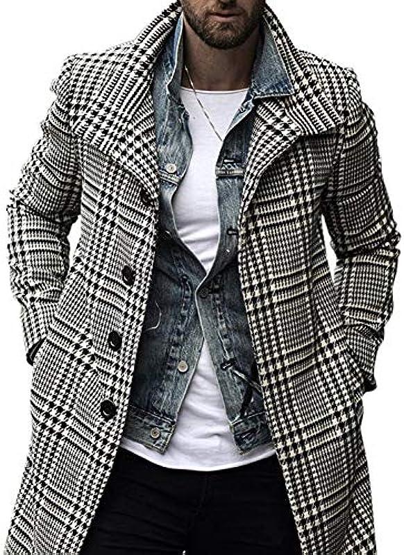 JSUMING Für Männer Mit Schalkragen Lattice Streifen Warm Cardigan Jacke,A,XXXL: Küche & Haushalt