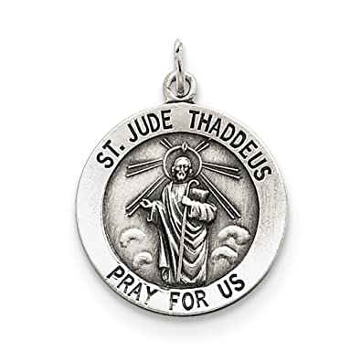 925 Sterling Silver Saint Jude Thaddeus Medal W7hmt