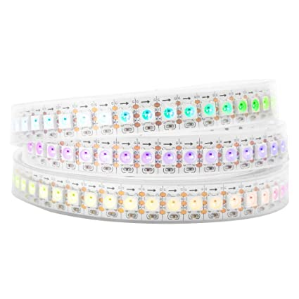huge discount 99271 2c67a BTF-LIGHTING WS2812B 144 LEDs/Pixels/m Waterproof IP67 Individual  Addressable Full Color led Pixel Strip Dream Color 3.2FT 1m