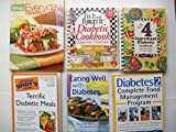 img - for Diabetic Cookbooks (Set of 6) Everyday Cooking; Slow Cooker; Easy 4 Ingredient; Terrific Meals... book / textbook / text book