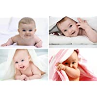 GiftShala Cute Baby Combo Poster_Multicolour - Set of 4