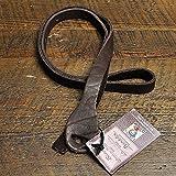 Lakota Leathers Mandolin Strap Non-Braided 48 Inch Mahogany