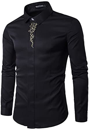 Whatlees Mens Long Sleeve Extra Long Design Dress Shirt at Amazon ...