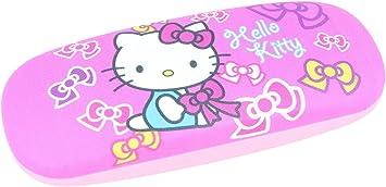Bonito estuche de gafas para niños | Hello Kitty en color rosa/rosa con schleifchen: Amazon.es: Salud y cuidado personal