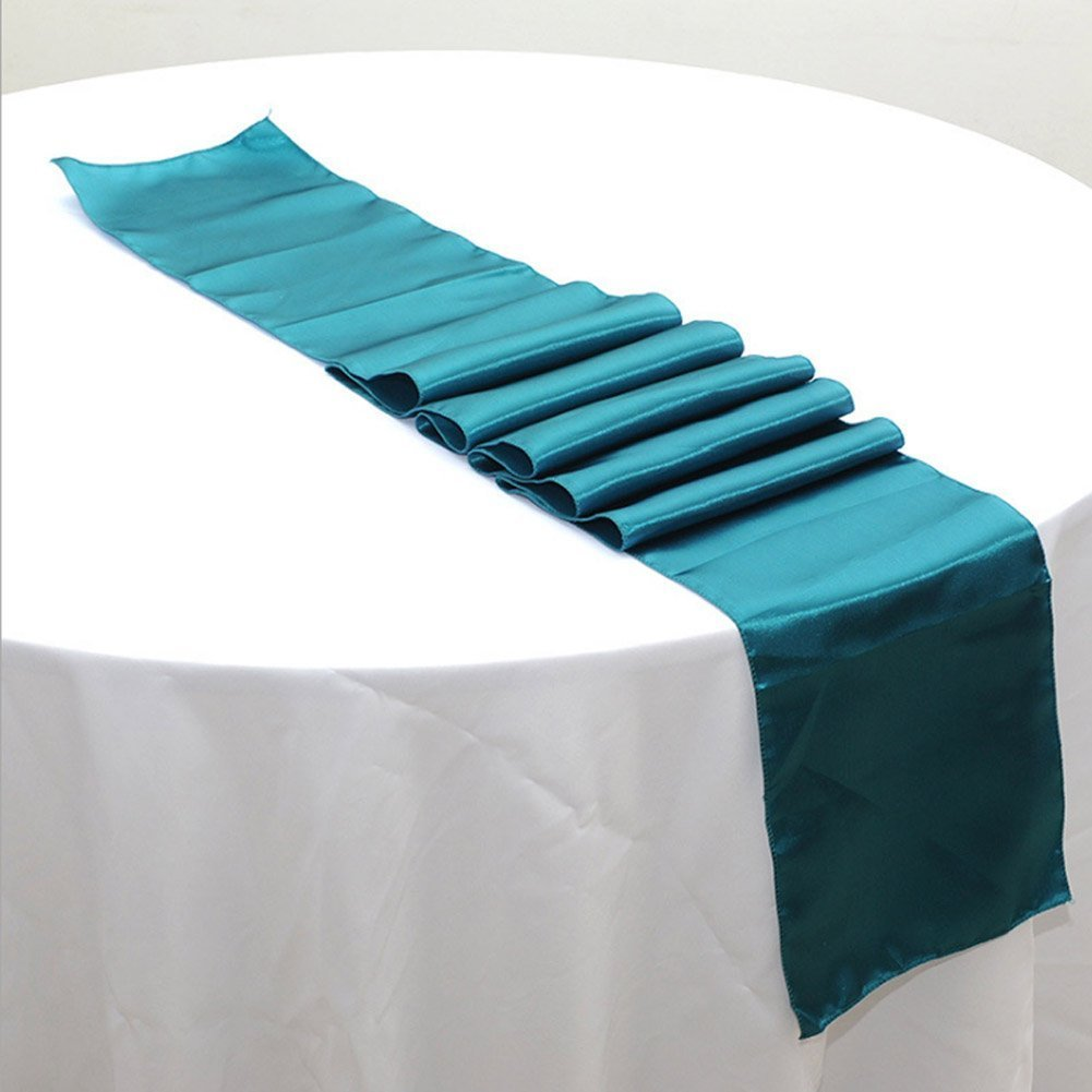OurWarm 12 x 108 Inch Satin Table Runner Wedding Party Table ...
