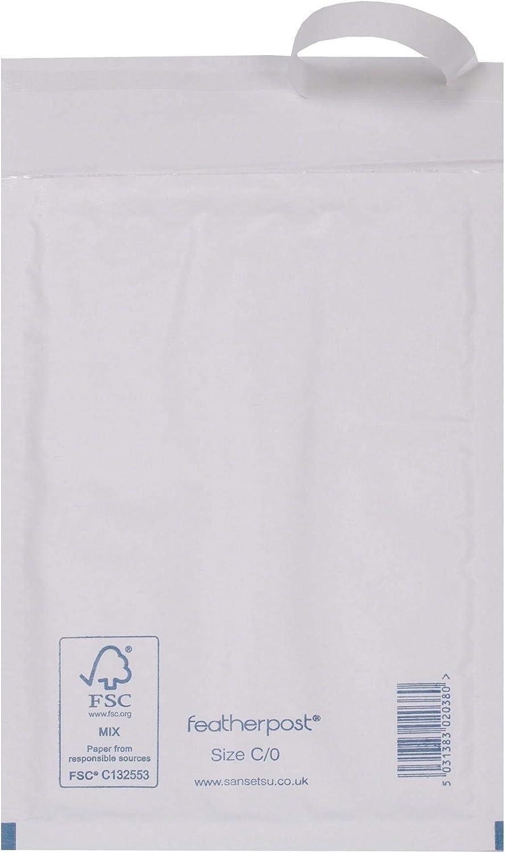 5 x Blanc A//000 bulle Featherpost Courrier Enveloppe Matelassée affranchissement Sac 140 x 175 mm
