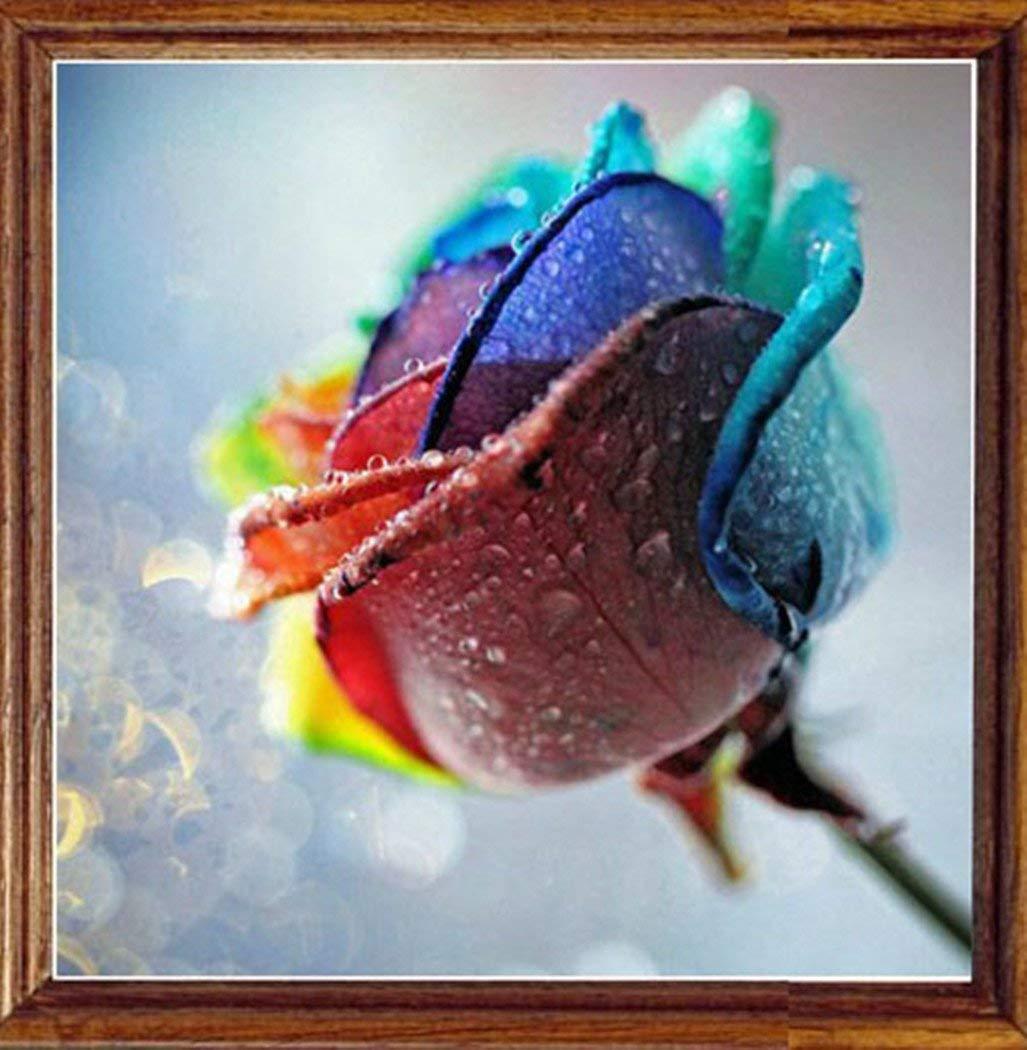 5d Pintura Por Diamantes (5181) Flores