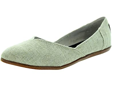 43fa62e5b81 Image Unavailable. Image not available for. Colour  TOMS Women s Jutti Flat  Natural Burlap ...