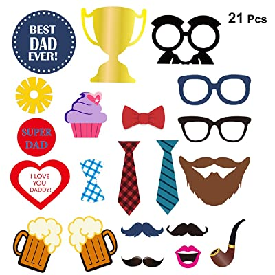 Tinksky Fathers Day Photo Booth Stick Props For Party Decoration Or Father