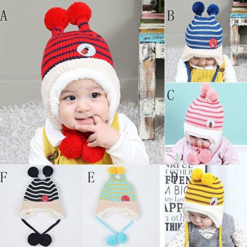 143279c60f4 Sombrero de bebé Tapa para niños Chicos Chicas Otoño invierno Calentar Gorro  Bolsillo Algodón Impresión Tejido