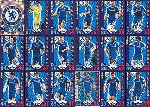 Topps Match Attax 2016/2017 Chelsea Team Base Set Plus Badge Logo , Star Player & Away Kit Cards 16/17