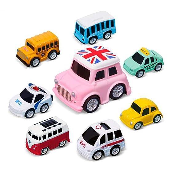 Amazon.com: Mini Toy Cars Pull Back Car Play Set Cartoon ...