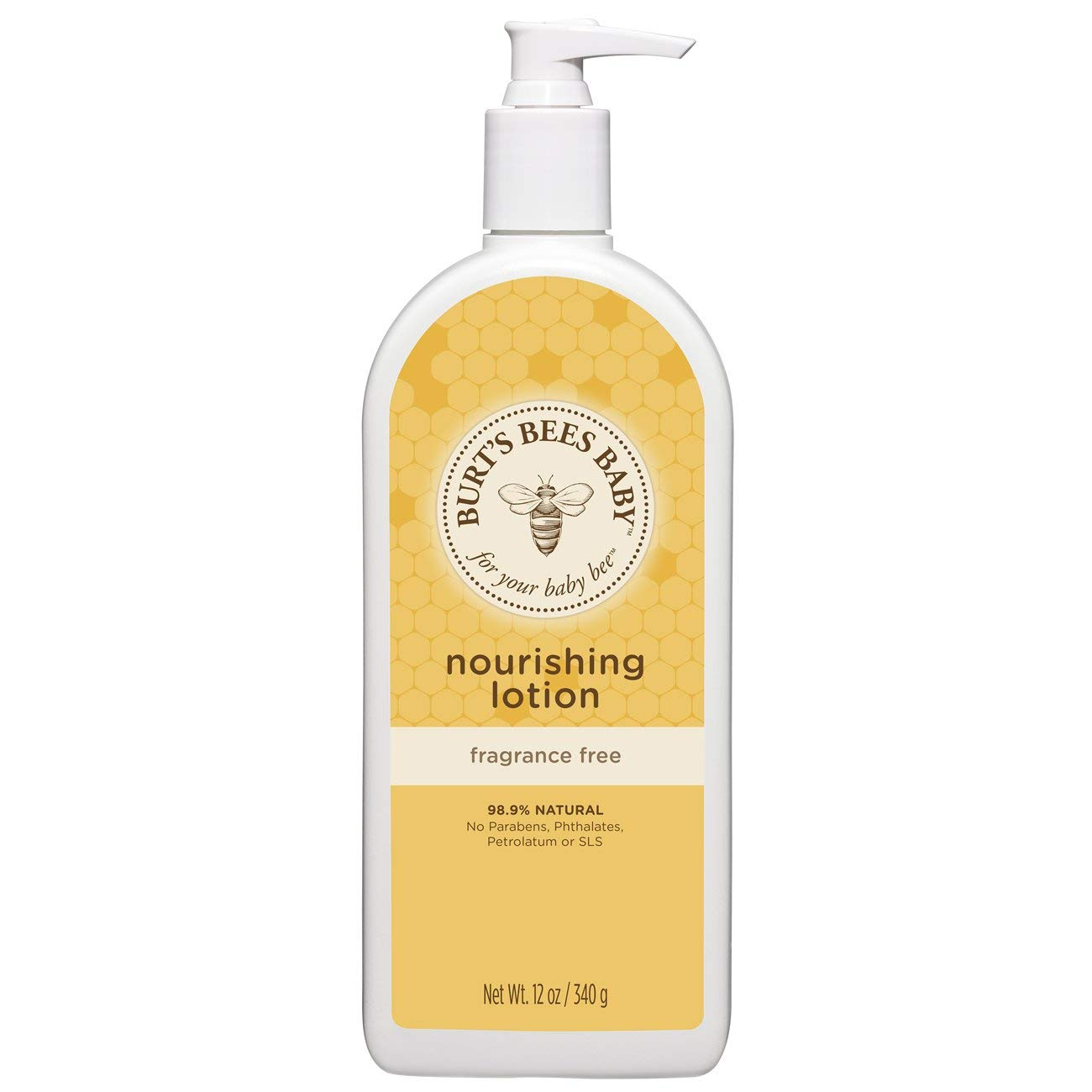 Burt's Bees Baby Nourishing Lotion, Original Scent Baby Lotion - 12 Ounce Tube Burt' s Bees 01470-20