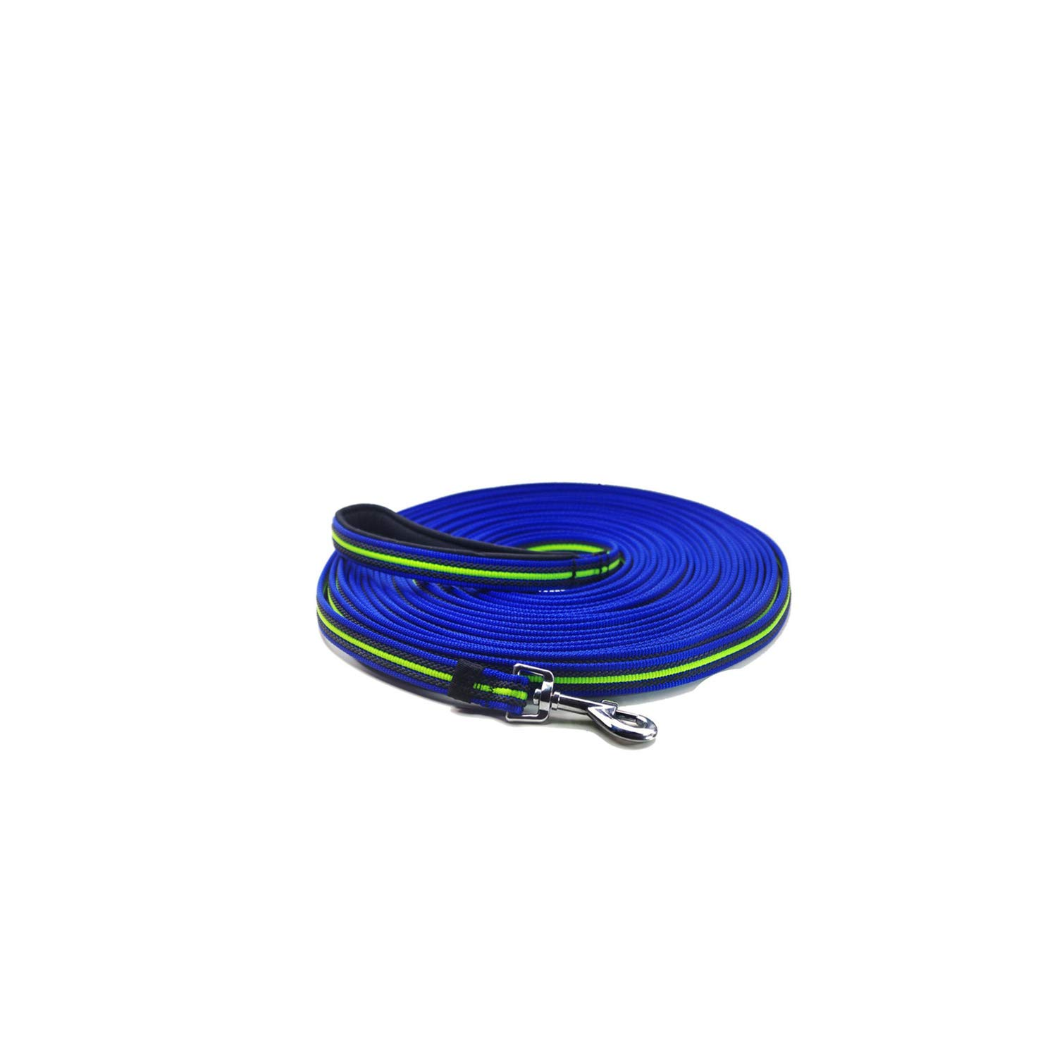 Durable Dog leashes with Padded Handle 1.8m to 15m Dog Tracking/Training Lead Leash Non-Slip Design for Any Dogs,Blue,5M