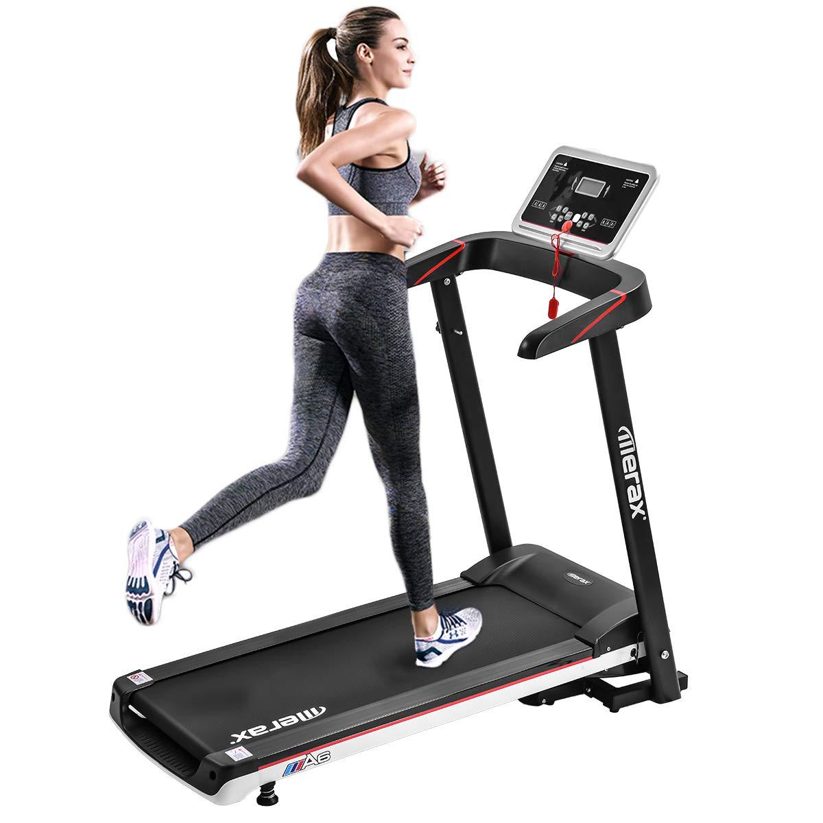 P PURLOVE Treadmill Folding Electric Treadmill Power Motorized Running Machine Treadly Treadmill for Running