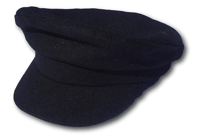 500657bd6 Traditional Black Wool Breton Cap - Size Small/Medium at Amazon ...