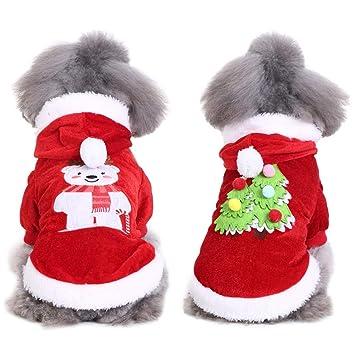 Handfly Pijamas para Perros Mono Ropa para Navidad Perrito Abrigo de Invierno Abrigo para Mascotas Ropa para Perros pequeños, Gatos: Amazon.es: Productos ...