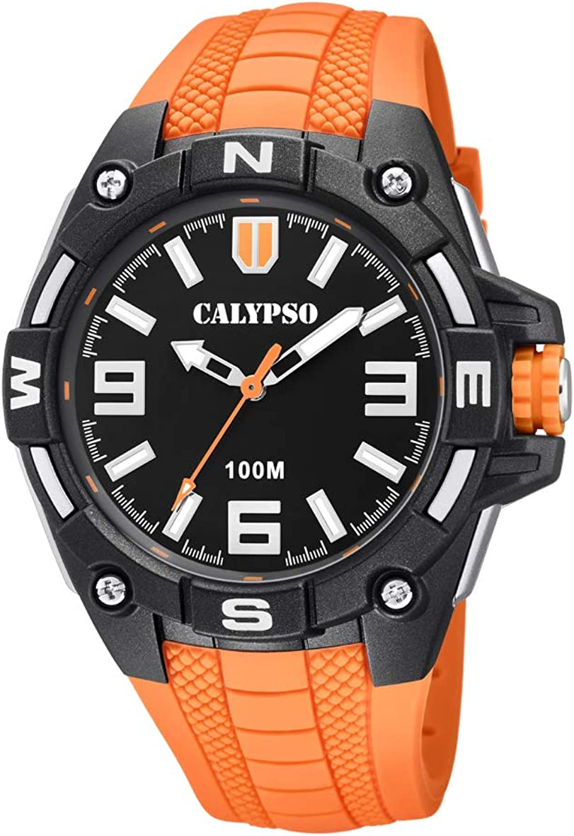 Calypso Watches Reloj Analógico para Hombre de Cuarzo con Correa en Plástico K5761/3