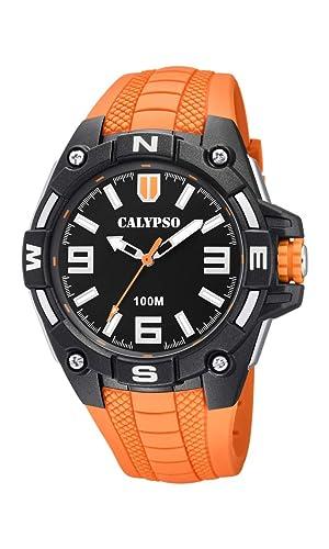 Calypso Watches Reloj Analógico para Hombre de Cuarzo con Correa en Plástico K5761/3: Amazon.es: Relojes