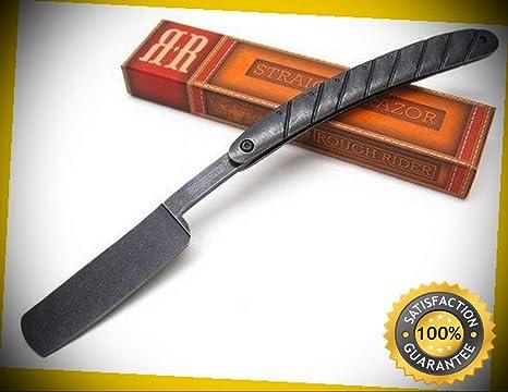 Amazon.com: Cuchillo de afeitar recto de color negro con ...