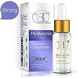 Siero di acido ialuronico per viso e occhi - 180 Cosmetics - Siero della pelle Con Acido ialuronico puro e Vitamina C - Idrata e rassoda - Riduce le rughe e le linee sottili per un effetto anti-età