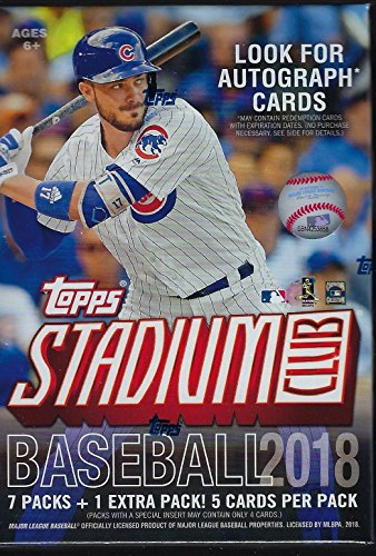 Topps Mlb Box - 2018 Topps STADIUM CLUB Baseball Series Unopened Blaster Box with Chance for Chrome Parallels and Autographed Cards and Shohei Otani Rookie Cards Plus