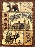 Rugs 4 Less Collection Cabin Style Lodge Area Rug Design R4L 362 (3'10''X5'1'')