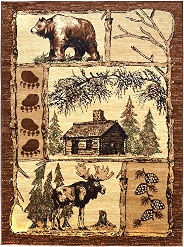 Rugs 4 Less Collection Cabin Style Lodge Area Rug Design R4L 362 (5'2''X7'3'') by Rugs 4 Less