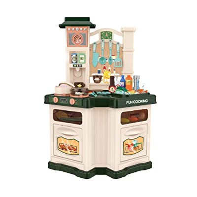 Children's Playset Kitchen Toys Best Chef Realistic Lights and Sounds Has Real Cooking Boiling Water Sound Cosplay: Toys & Games
