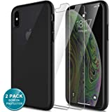 LK Case for iPhone Xs/X with 2 Pack Screen Protector, Tempered Glass, Shock-Absorption, Full Protection Case, Translucent Mat