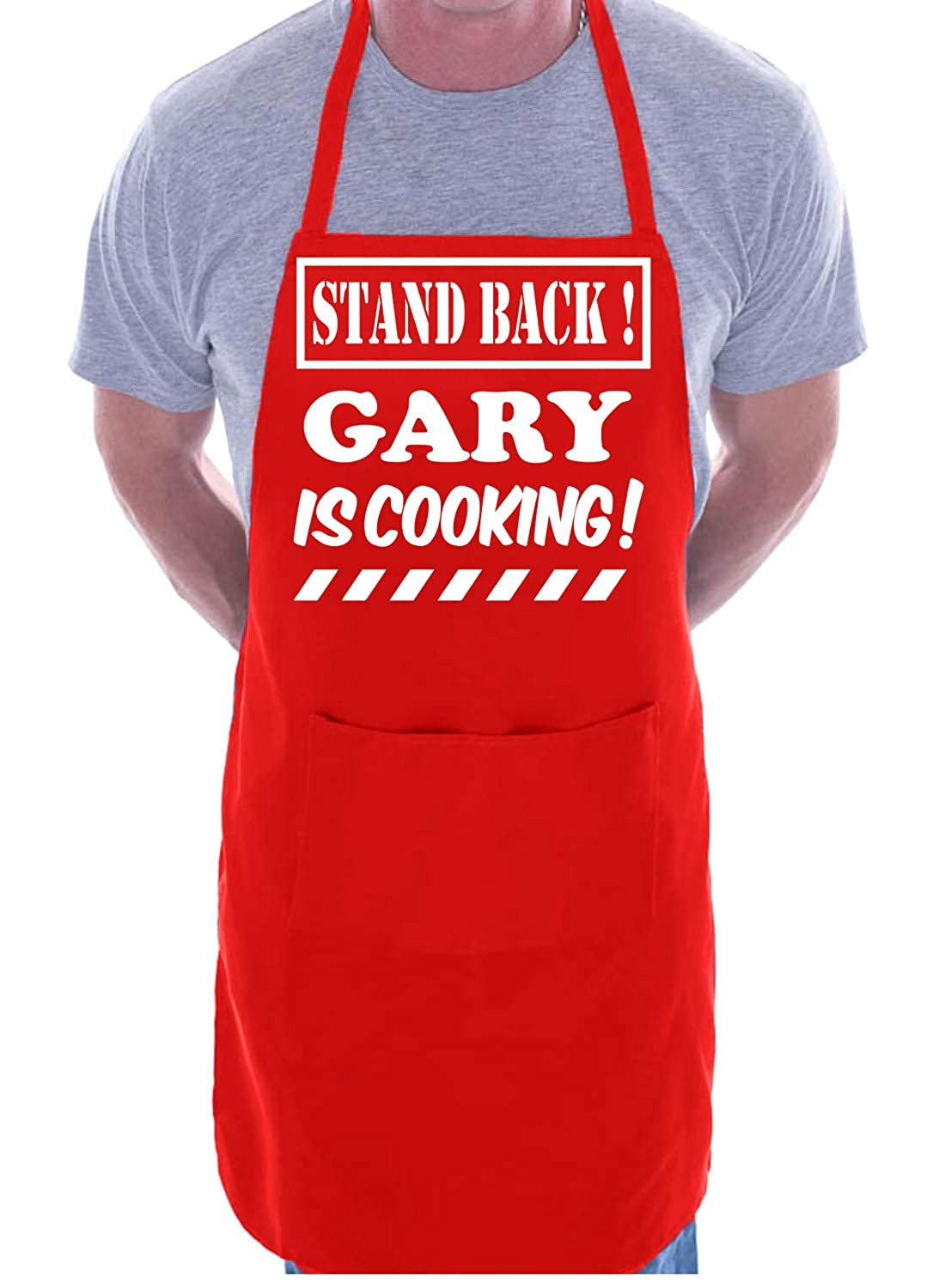Print4U Personalised Apron BBQ Stand Back Gary Is Cooking