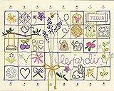 Simplicity Vintage Dimensions Crafts 71-01545 Le Jardin Sampler Embroidery Kit
