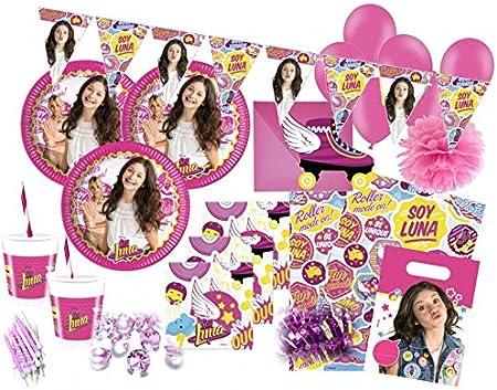 KPW XXL 94 Piezas Disney s Soy Luna Fiesta de cumpleaños Juego para 6 – 8 Personas: Amazon.es: Juguetes y juegos