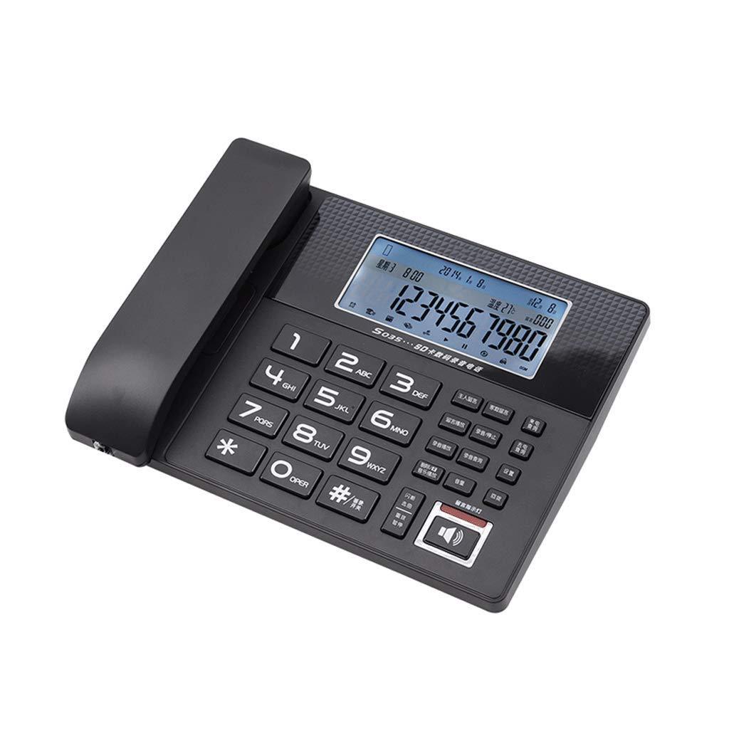 LCSHAN レトロ電話クリエイティブミニマリストオフィスホーム有線固定固定電話 (色 : ブラック) B07K1R1B9W ブラック