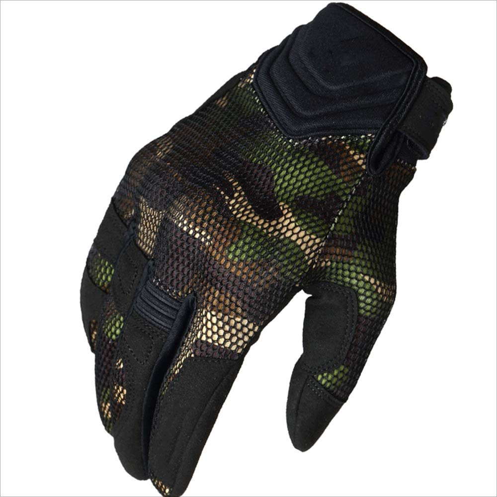 ZDYLL Sports and Outdoors Off Road Gloves Durability Cycling Bike Bicycle MTB DH Downhill Dirt Bike ATV & Motorcycle Glove Comfortable Fit (Color : Camouflage Green, Size : L) by ZDYLL